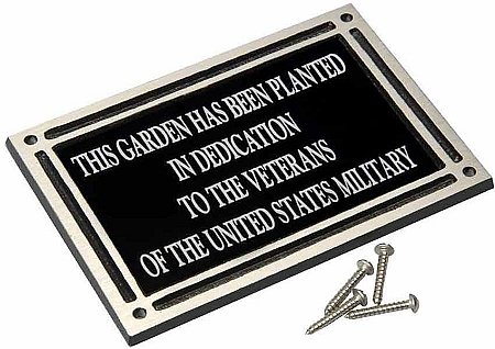 Flat mounted memorial plaque