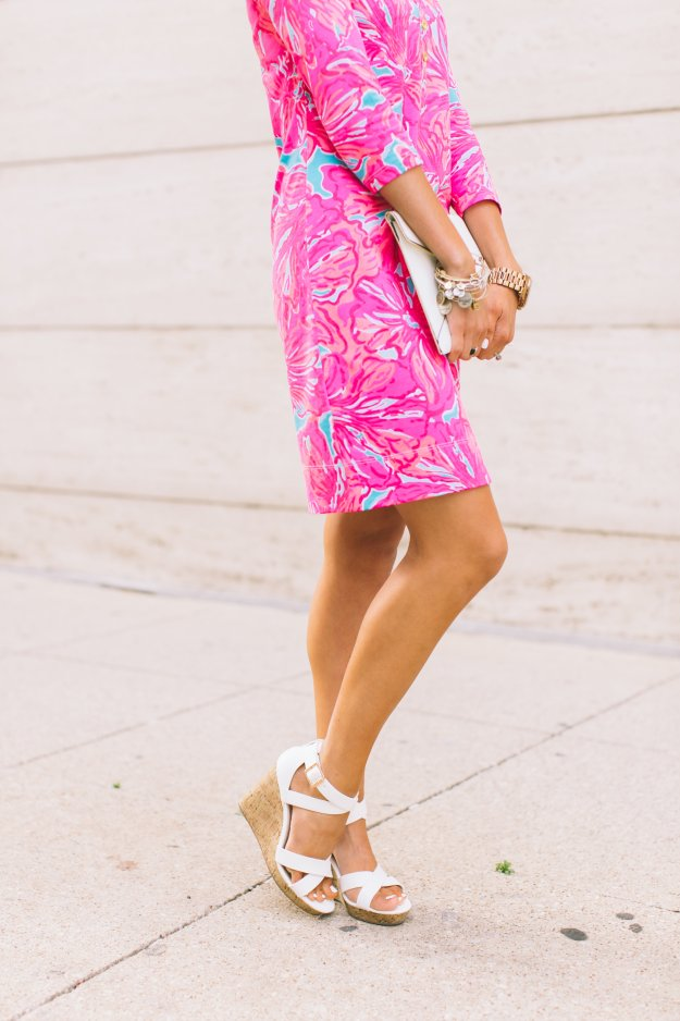 Pink Dress & White Wedges for Summer Truly Destiny