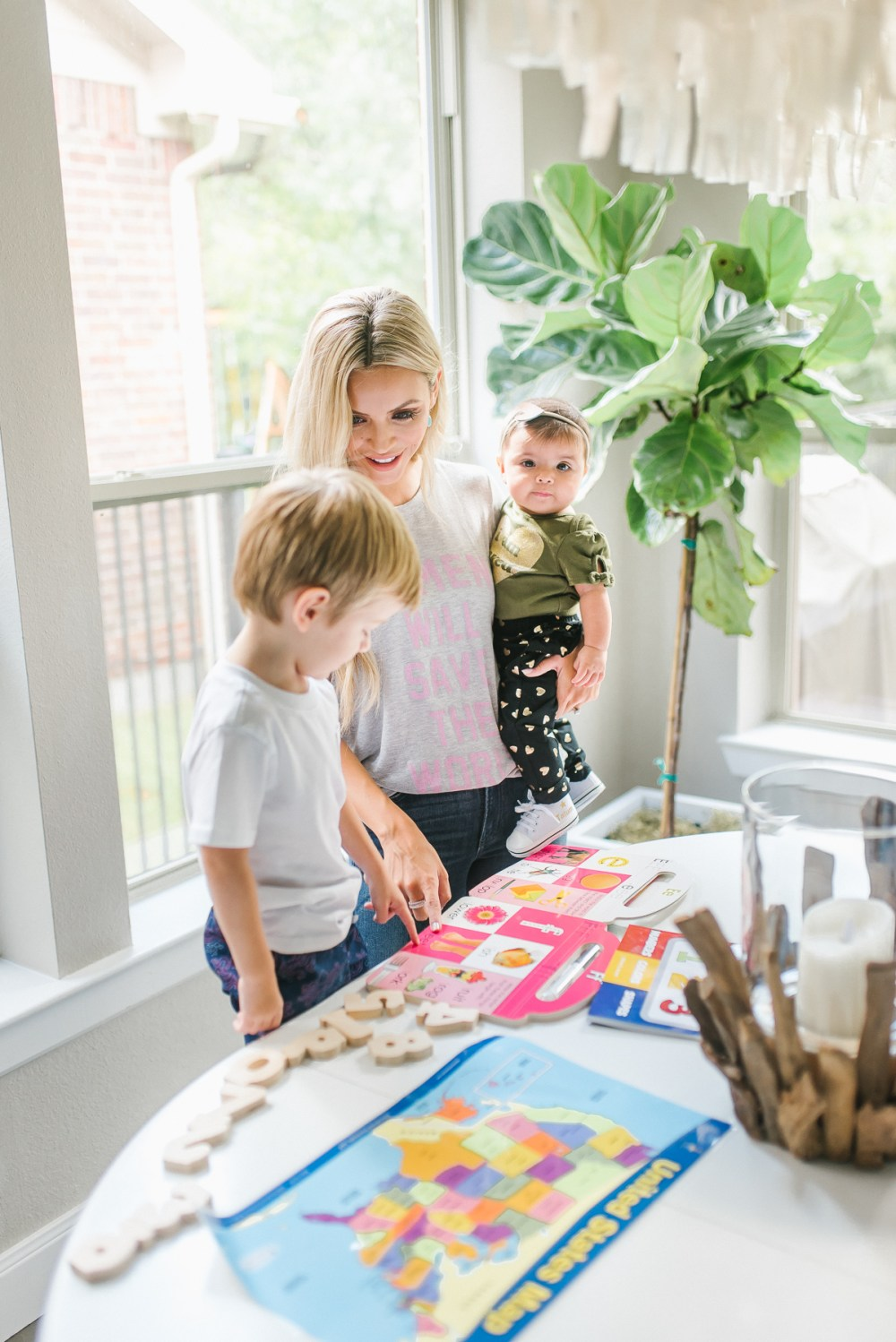 Here are some of my favorite toddler activities that not only Tru loves, but are very educational! So mom loves them too!