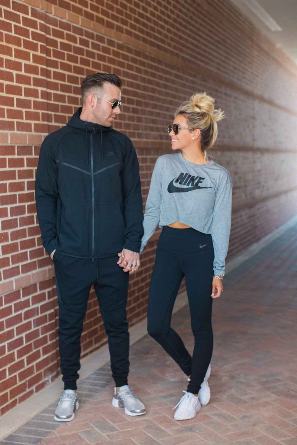 A couple who works out together, stays together. Men and women's Nike workout attire!