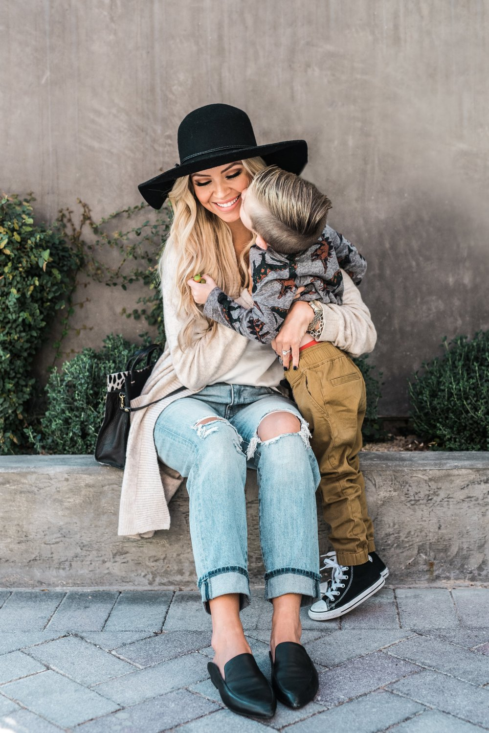 Mother and son! He melts my heart! Check out our outfit details on the blog!