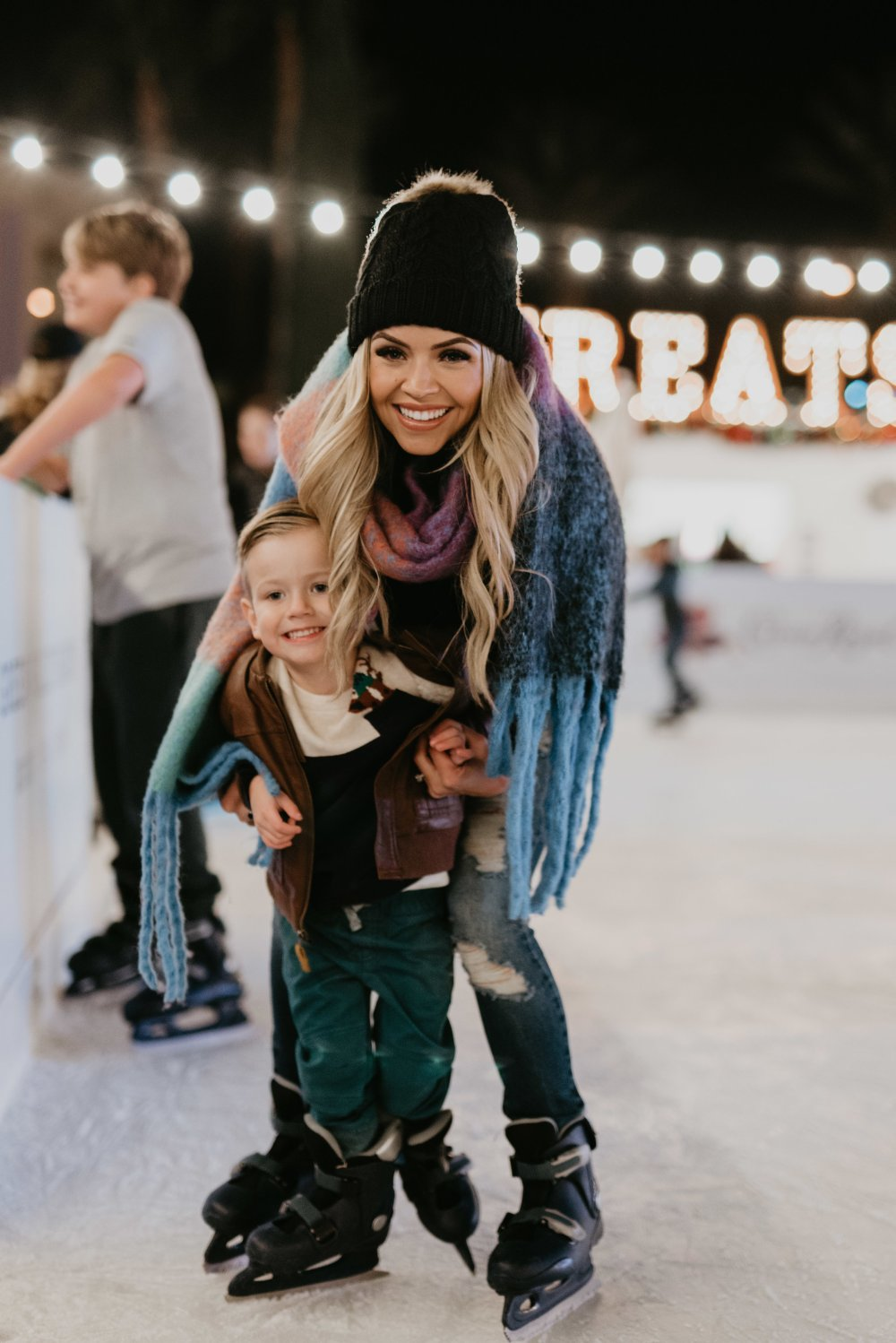 Spending time together as a family going ice skating! Making memories with my children that will last a lifetime! Here is what we wore to keep warm but still stylish! #trulydestiny #winteroutfit #familytime