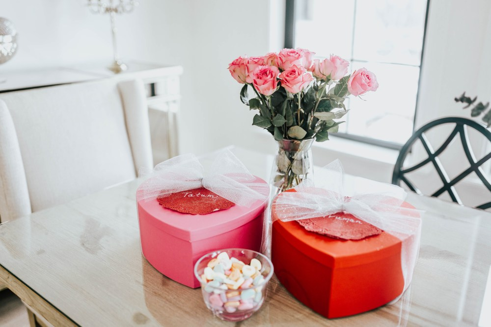 Roses, heart boxes and candies