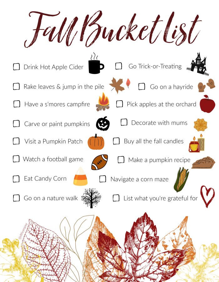 What fun fall activities do you do every year? We made our Fall Bucket List into a printable so that we could share the fun with you! Hang it in your home and tag us in your activities as you mark items off the list! Happy Fall! #fallbucketlist #fallactivities #fallweather #fallfashion #pumpkinpatch