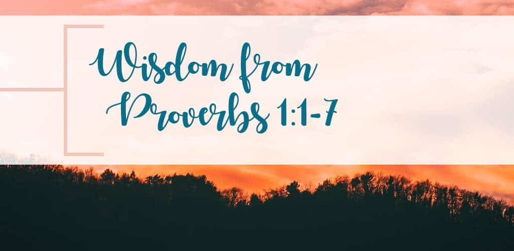 Gain wisdom on wisdom from these first seven verses in Proverbs 1. A quick read Bible study