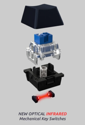 Truly Ergonomic Keyboard - Optical Infrared Mechanical Key Switches