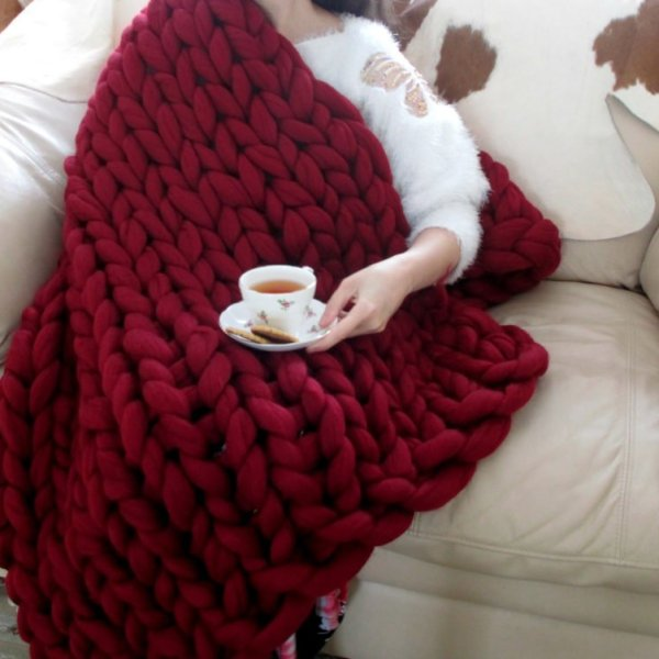 arm knitting blanket tutorial