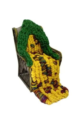 Merino Wool Knitted Blanket