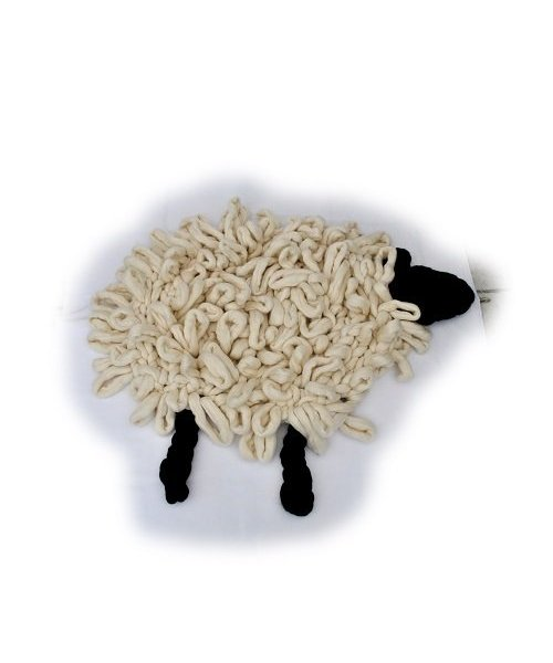 Merino wool sheep rug