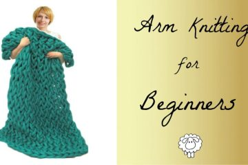 arm knitting a blanket for beginners tutorial
