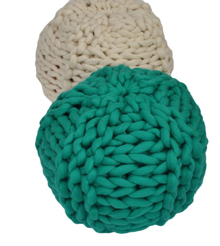 arm knitting pouffe tutorial