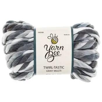 Arm knitting synthetic yarn