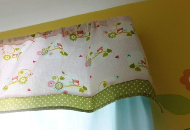 DIY Valance Curtains for Nursery