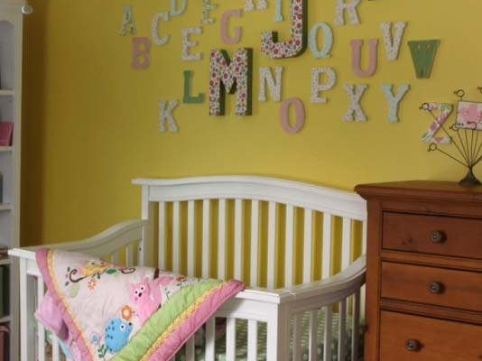 Baby Girl Nursery Reveal with DIY Tutorials
