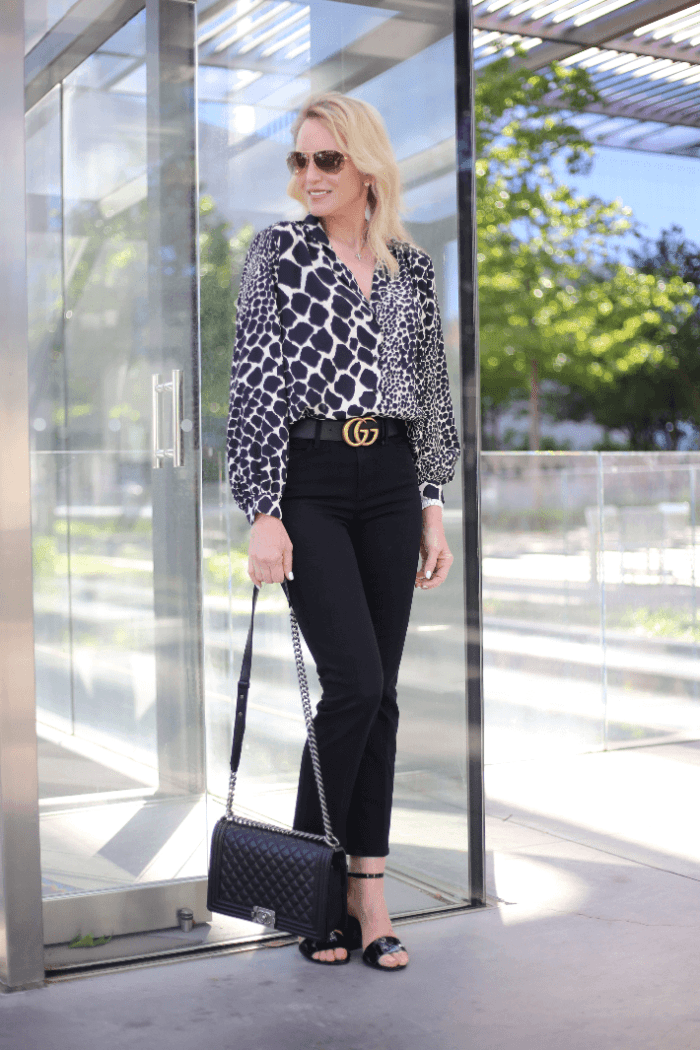 Two Amazing Animal Print Tops Under $70 + The Trending Jean Cut For Spring