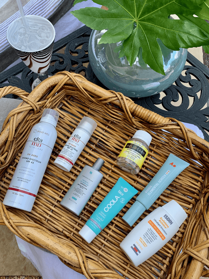 Dallas lifestyle blogger Truly Megan shares her favorite sunscreens including Elta MD, Skin Ceuticals and Isdin.