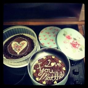 Cakes I made.