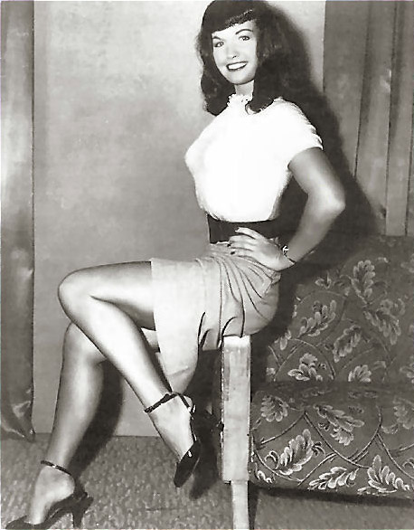 bettie page pencil skirt