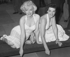 Chinese Theater with Jane Russel for Gentlemen Prefer Blondes