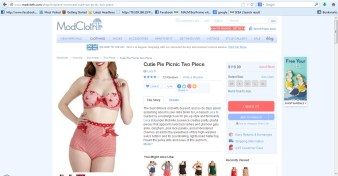 modcloth red picnic swimsuit