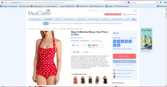 modcloth red swimsuit
