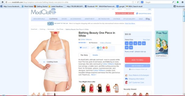 modcloth white one piece swimsuit
