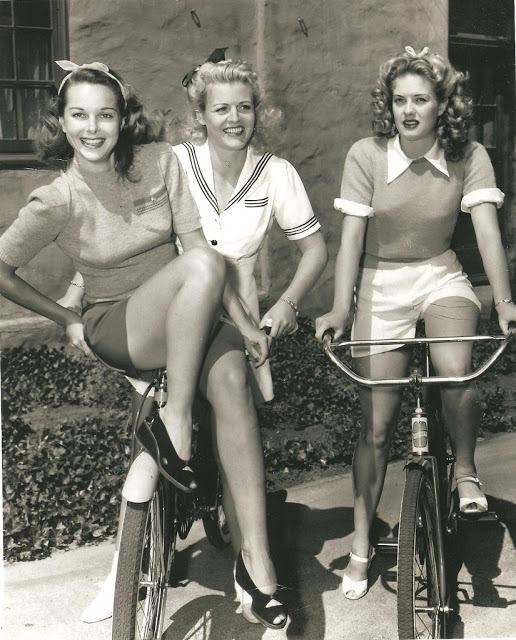 Vintage Photos of Ladies with Bicycles (1)