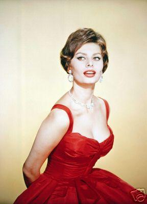 sophia loren red dress