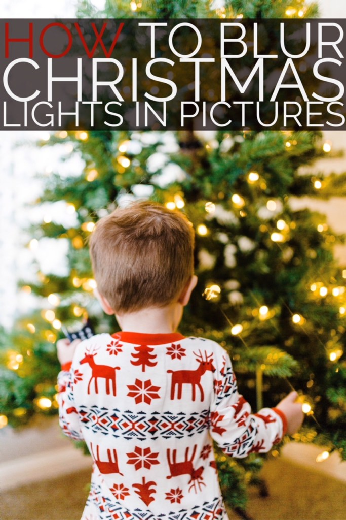 How to Blur Christmas Lights in Background | Utah Photographer | Truly Photography