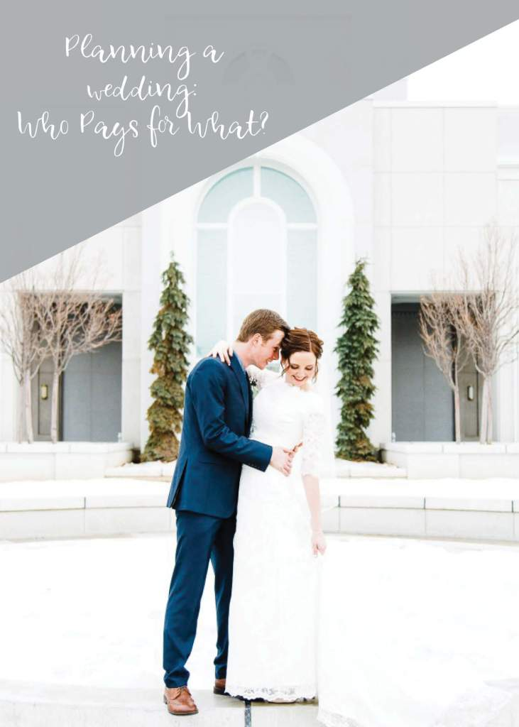 Planning a wedding who pays for what utah wedding for Who pays for wedding photographer