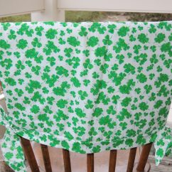Chair Covers Ireland Windsor Dining Shamrock Patterned Back Cover  Truly Skrumptious