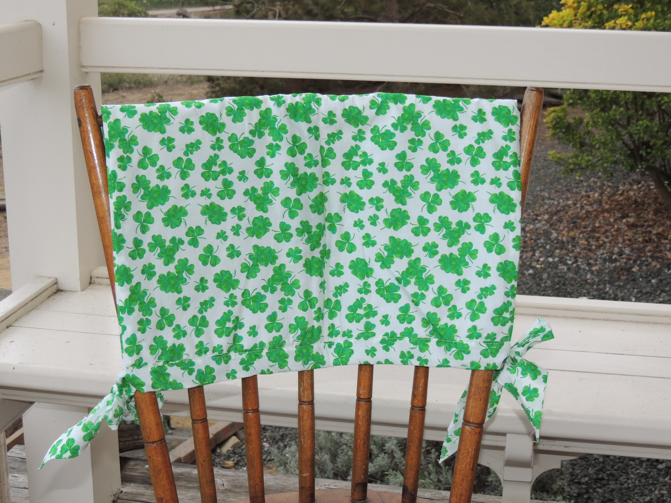 chair covers for sale ireland outdoor metal dining chairs shamrock patterned back cover  truly skrumptious
