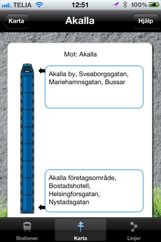 Upp ur Stockholm app för iPhone