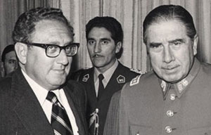 Henry Kissinger and Augusto Pinochet