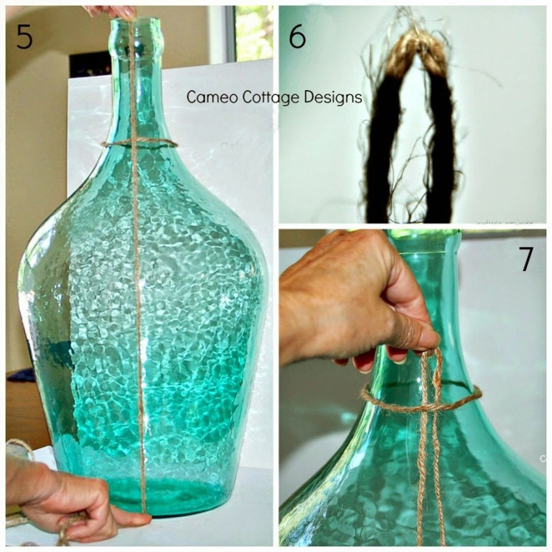 Knotted Jute Netted Bottles _ 027