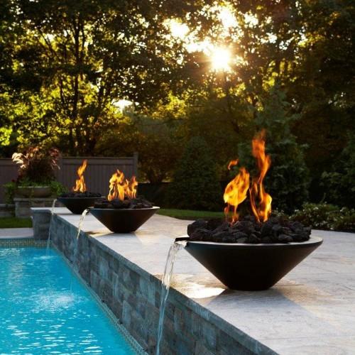 Outdoor Pool Stone Design (Trumeau Stones)