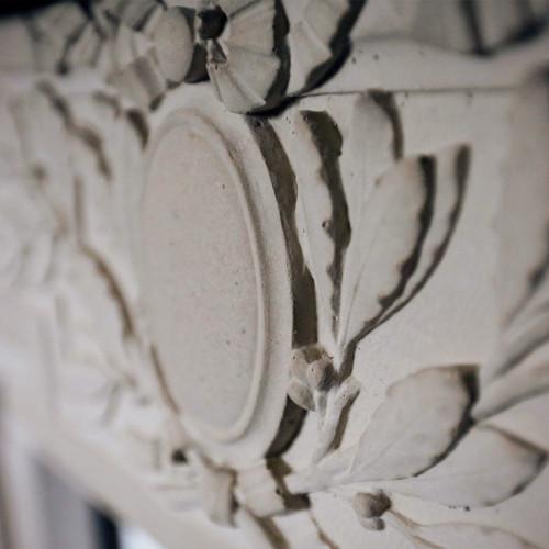 Stone Detail Mantel Design (Trumeau Stones)