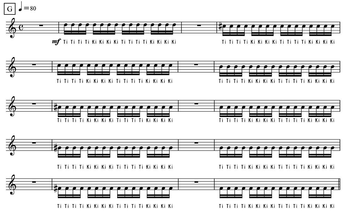 4.舌の位置を整える 譜面2