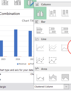 Combo chart line with markers also how to create combination charts in excel step by tutorial rh trumpexcel