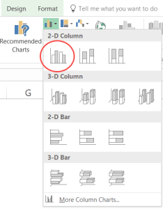 Excel combination charts click on clustered column chart also how to create in step by tutorial rh trumpexcel