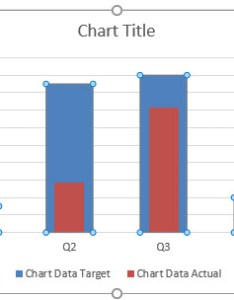 Actual vs target chart in excel when the gap width is lowered also creating examples rh trumpexcel