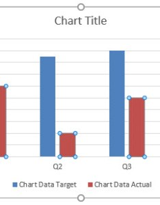 Click on the actual value bar in chart also creating vs target excel examples rh trumpexcel