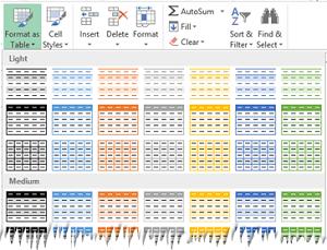 Formatear como tabla de Excel