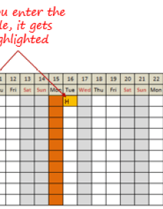 Leave planner in excel free template number of leaves month year also tracker updated for rh trumpexcel