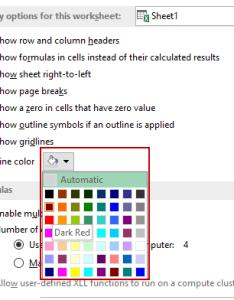 How to remove gridlines in excel gridline color dropdown also it change and print rh trumpexcel