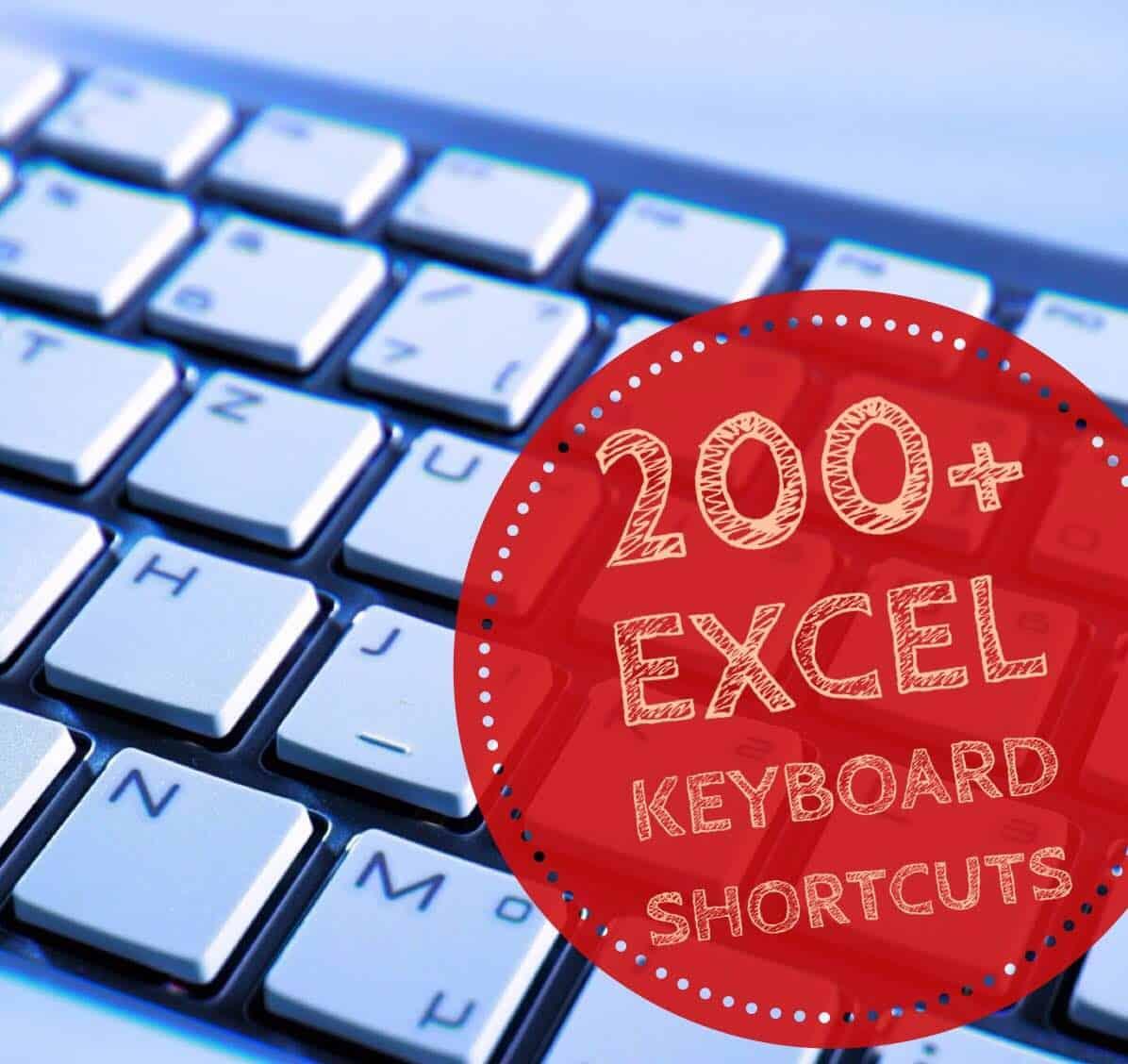 200 Excel Keyboard Shortcuts