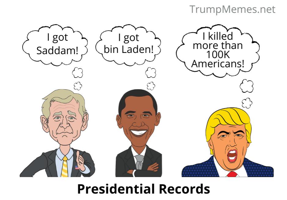 Bush, Obama, Trump meme