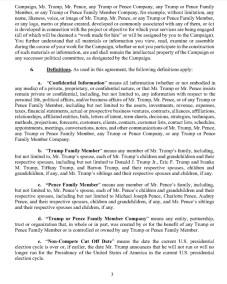 Trump's Post Service Agreement : NDA Page 3