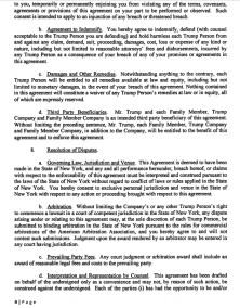 Trump's 2016 Campaign Agreement : NDA Page 4