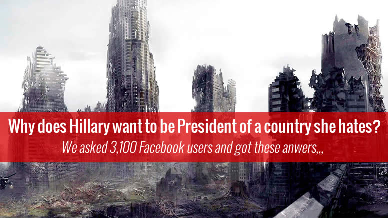 Hillary WANTS to Be President, why? Here's Facebook's Top Reasons why!